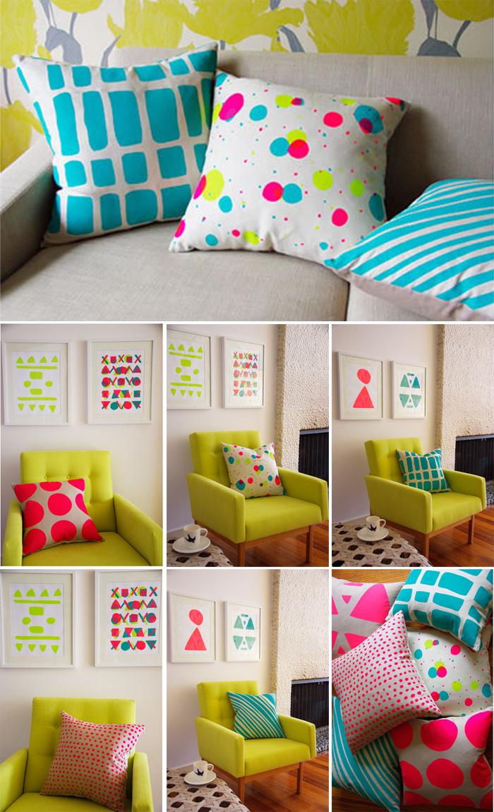 Cojines neon depto51 blog - Cojines de lana hechos a mano ...