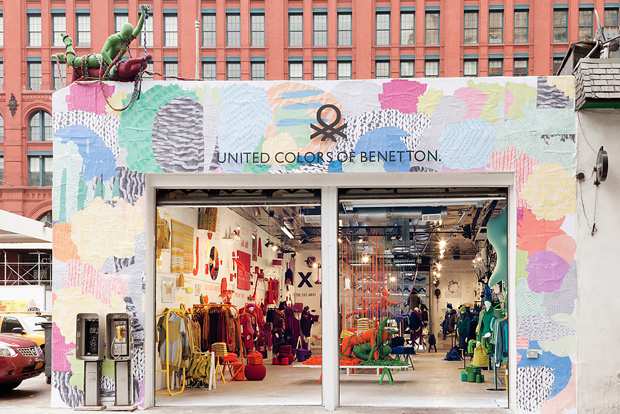 Benetton pop up store depto51 blog for Craft stores in nyc