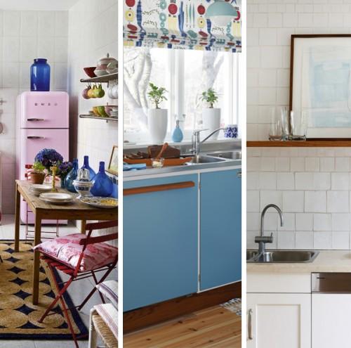 Tres estilos, tres cocinas