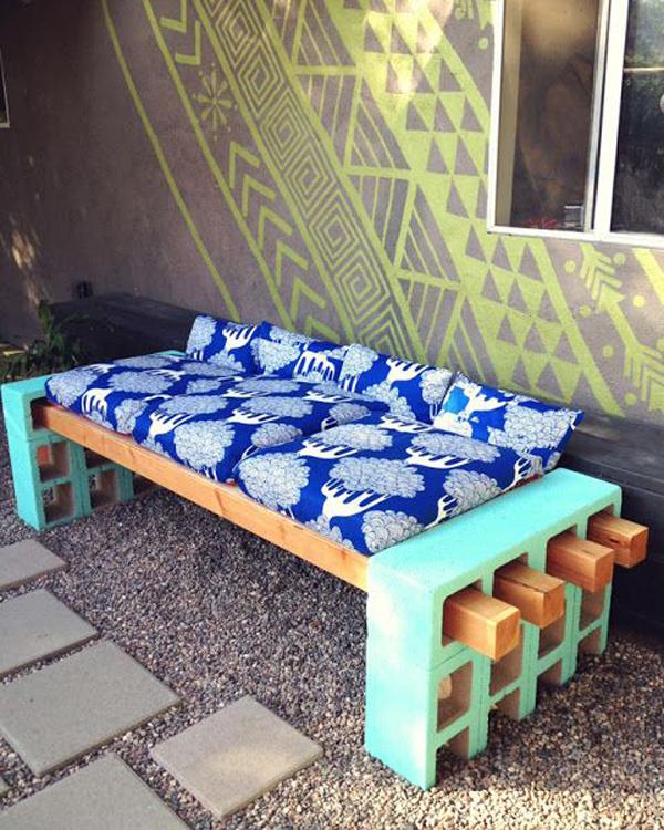 10 ideas para usar bloques de cemento en tu casa depto51 for Bloques cemento para jardin