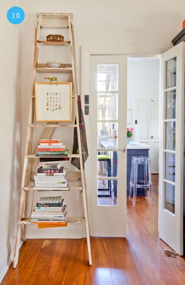 10 ideas para hacer tus propias repisas depto51 blog for Repisa escalera