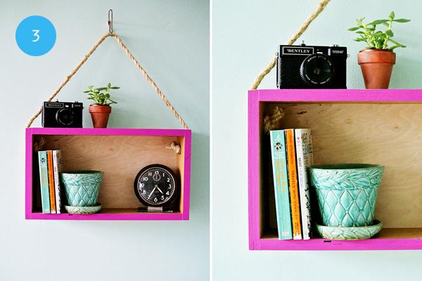 10 ideas para hacer tus propias repisas depto51 blog - Como decorar una caja de metal ...