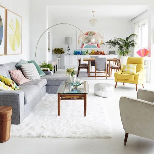Una casa creativa y colorida