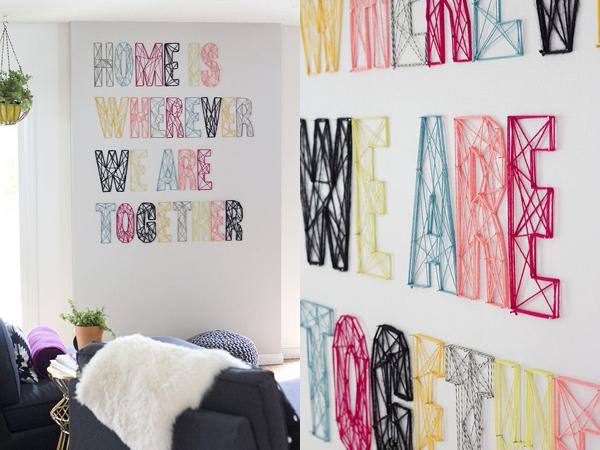 10 ideas para decorar con letras depto51 blog - Letras home decoracion ...