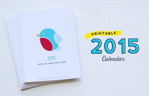 Calendarios descargables para el 2015