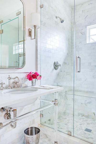 Cortina De Baño O Mampara:Pretty Small Bathroom Makeover