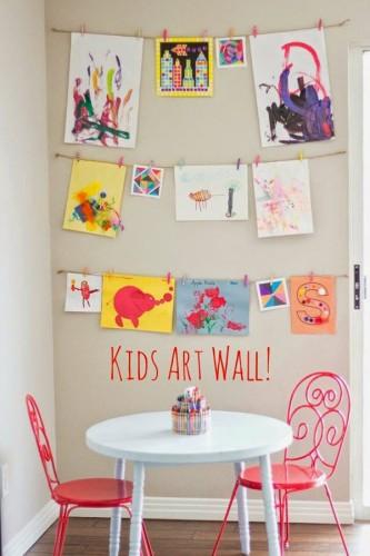 10 formas de desplegar los dibujos de los niños