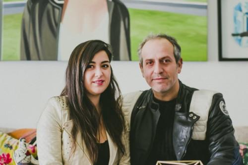 Constanza Ragal y Nicolás Allendes, directora de galería Madhaus y actor