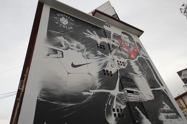 Murales en Santiago para la Copa América