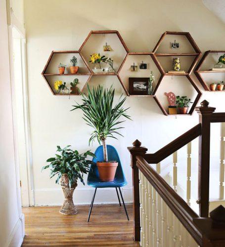 5 formas de usar los héxagonos en tu casa