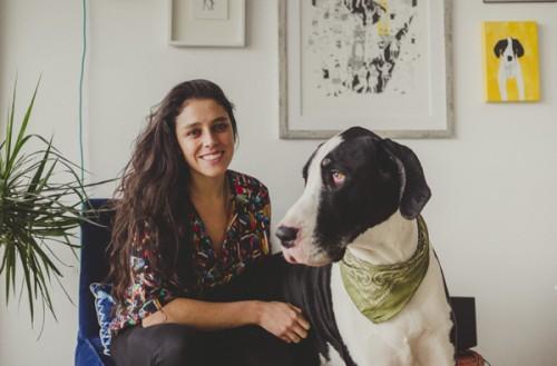 Trinidad Guzmán y Camila Manns, artista Estanpintando y cineasta