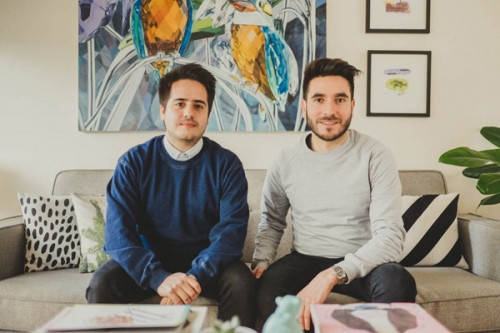 Nicolás Venturelli y Francisco San Román, diseñador gráfico y músico clarinetista