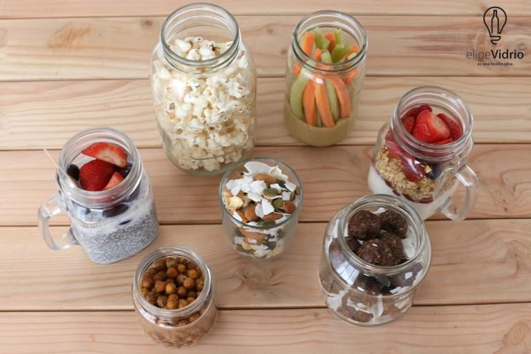 7 snacks saludables para toda la semana