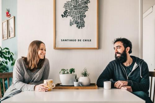 Henriette De Visscher y Sabino Aguad, productora y fotógrafo