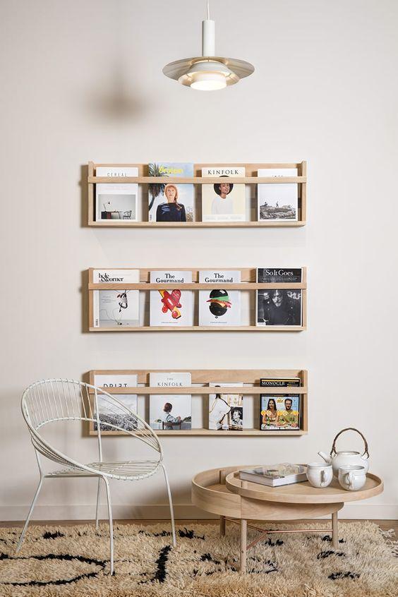 Muestra tus revistas y libros con estilo