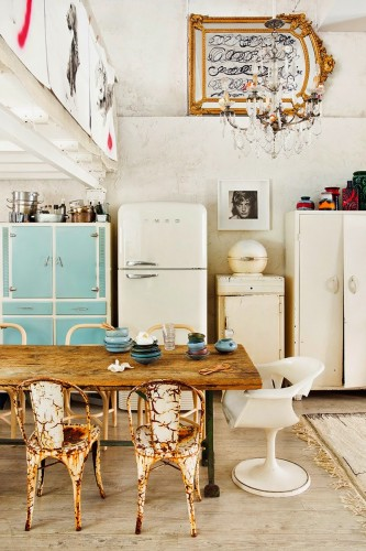 Una casa-estudio con mucho arte en Madrid
