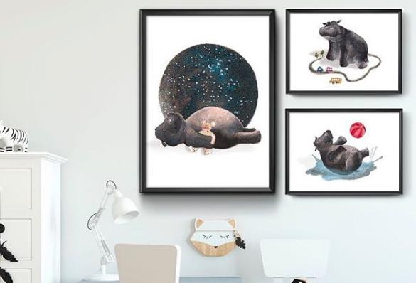 Bernie, ilustraciones para decorar tu casa con acuarelas y humor
